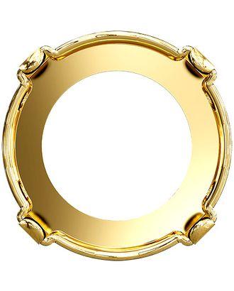 """Сваровски"" 1122/S gold 18 мм металл 2 шт в пакете Оправа для страз арт. ГММ-10853-1-ГММ0025327"