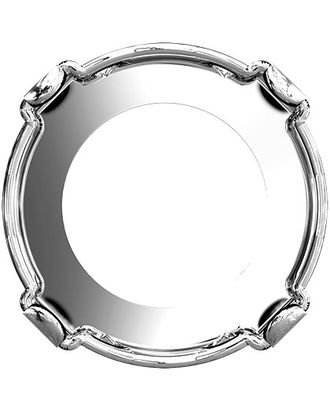 """Сваровски"" 1122/S silver 18 мм металл 2 шт в пакете Оправа для страз арт. ГММ-10860-1-ГММ0074451"