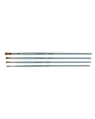 """Кисти колонок """"VISTA-ARTISTA"""" 20132-04 плоская 10 шт длинная ручка арт. ГММ-10916-1-ГММ0079626"""