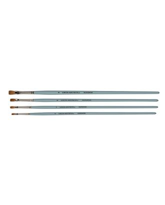 """Кисти колонок """"VISTA-ARTISTA"""" 20132-08 плоская 10 шт длинная ручка арт. ГММ-10918-1-ГММ0080053"""