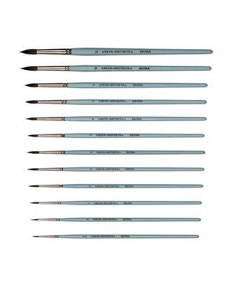 "Кисти белка ""VISTA-ARTISTA"" 10231-12 круглая 5 шт короткая ручка арт. ГММ-10936-1-ГММ0028113"