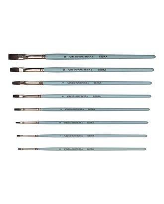 """Кисти белка """"VISTA-ARTISTA"""" 10232-01 плоская 10 шт короткая ручка арт. ГММ-10938-1-ГММ0078674"""