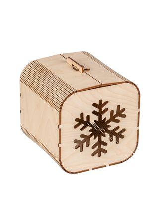 "Заготовки для декорирования ""Mr. Carving"" ВК-020 Шкатулка ""Снежинка"" фанера 12.5x12.5x12.5 см арт. ГММ-11019-1-ГММ0040660"