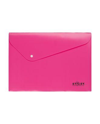 """""""STILSY"""" Папка-конверт на кнопке, неоновые цвета ST 231201 А4 арт. ГММ-11070-4-ГММ0059668"""