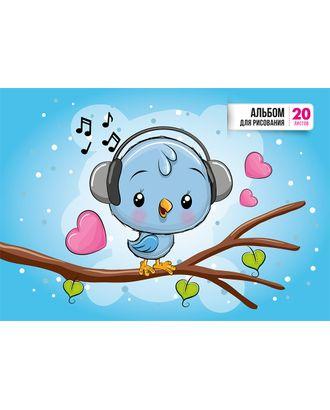 NNA-20 Альбом для рисования 100 г/м2 А4 21 х 29 см на скобе 20 л. арт. ГММ-12081-1-ГММ0065832