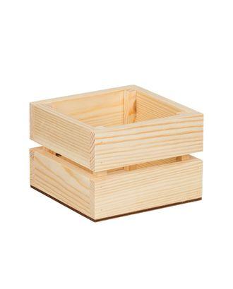 """Заготовки для декорирования """"Mr. Carving"""" ВД-750 Ящик квадратный сосна 13x13x9 см арт. ГММ-13032-1-ГММ0060802"""