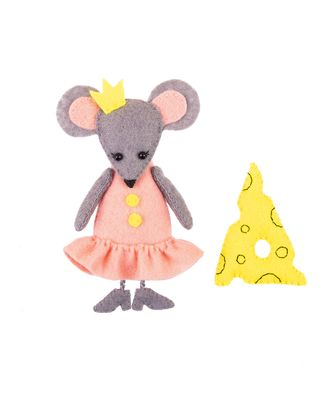 """Наборы для изготовления игрушек из фетра """"Miadolla"""" TF-0254 Мышка с сыром арт. ГММ-13052-1-ГММ0030723"""