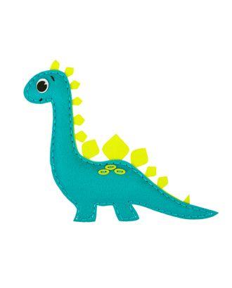 """Наборы для изготовления игрушек из фетра """"Miadolla"""" KD-0259 Динозаврик арт. ГММ-14427-1-ГММ065324069384"""