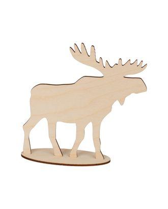 """Заготовки для декорирования """"Mr. Carving"""" ВД-814 Лось на подставке фанера 15x15 см арт. ГММ-13276-1-ГММ0068563"""