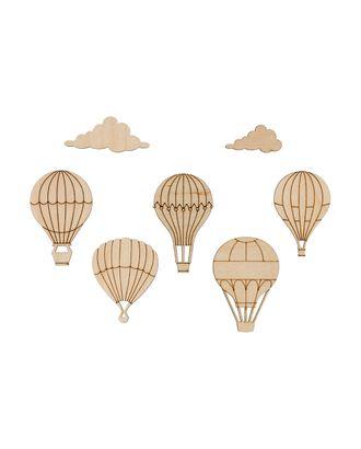 """Заготовки для декорирования """"Mr. Carving"""" ВД-893 Мини-набор """"Воздушные шары"""" фанера 4.5-5.2 см арт. ГММ-15117-1-ГММ070048192524"""