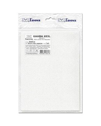 Канва K03L Aida №11 ФАСОВКА 95% хлопок, 5% терилен 30 x 40 см 5 шт арт. ГММ-14122-1-ГММ0061236