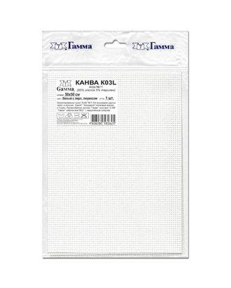 Канва K03L Aida №11 ФАСОВКА 95% хлопок, 5% терилен 50 x 50 см 5 шт арт. ГММ-14123-1-ГММ0030170