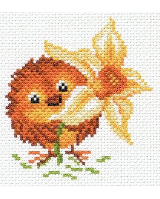 Рисунок на канве МАТРЕНИН ПОСАД - 1666 Цыпленок с нарциссом арт. МГ-14196-1-МГ0152095