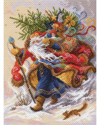 Рисунок на канве МАТРЕНИН ПОСАД - 1702 Дед Мороз арт. МГ-14264-1-МГ0152451