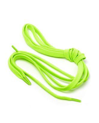 Шнурки плоские 9 мм 7с859 длина 100см, компл.2шт, цв.салатовый арт. МГ-125-1-МГ0152522