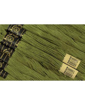Нитки мулине цв.4609 зеленый 12х10м С-Пб арт. МГ-14592-1-МГ0153861