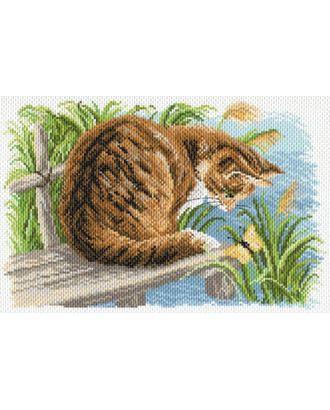 Рисунок на канве МАТРЕНИН ПОСАД - 1688 Любопытный котенок арт. МГ-14697-1-МГ0154926