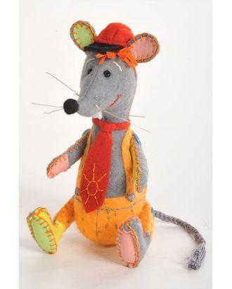 """Набор для изготовления игрушки из фетра """"Озорной мышонок"""" 18х15,5см арт. МГ-216-1-МГ0155539"""