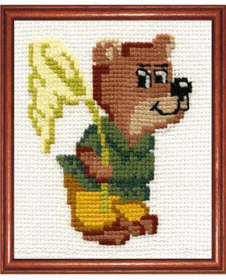 Набор для вышивания СДЕЛАЙ СВОИМИ РУКАМИ Медвежонок 11х15 см арт. МГ-14907-1-МГ0156348