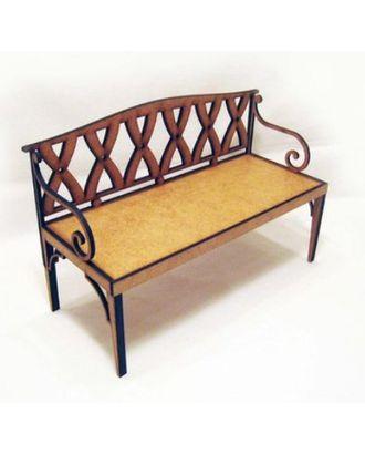 Комплект сборки из МДВ садовая скамейка №3 недекорированный арт. МГ-14975-1-МГ0156624