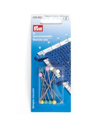 Булавки для макраме 28650 PRYM с защитой от ржавчины, с пласт. головкой 55х1,15мм арт. МГ-15235-1-МГ0157571