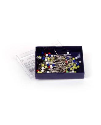 Булавки со стеклянными головками 29129 PRYM, цветные, термоуст. закаленные для шитья 30х0,60мм уп.10г арт. МГ-15236-1-МГ0157572
