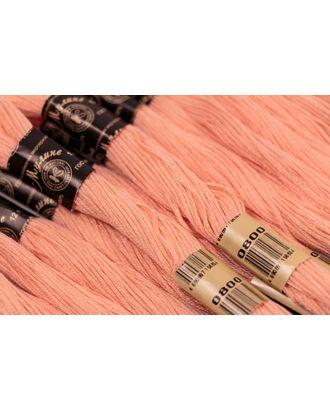 Нитки мулине цв.0800 розовый 12х10м С-Пб арт. МГ-15273-1-МГ0157708