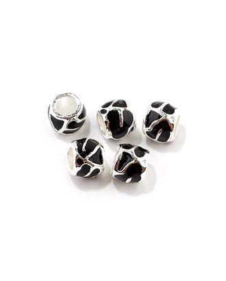 Бусины металлические с эмалью цв.1 7х10мм, in Ø 5мм арт. МГ-67567-1-МГ0159650