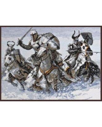 Набор для вышивания ПАЛИТРА Рыцари 36х26 см арт. МГ-15864-1-МГ0159698