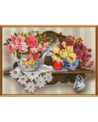Набор для вышивания бисером НОВА СЛОБОДА Цветочный романс 35х25 см арт. МГ-16054-1-МГ0160894