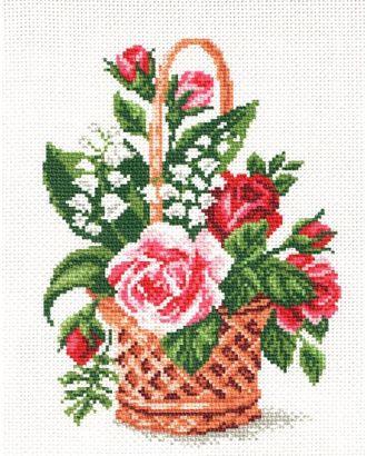 Рисунок на канве МАТРЕНИН ПОСАД - 0805-1 Корзина с цветами арт. МГ-16449-1-МГ0162460