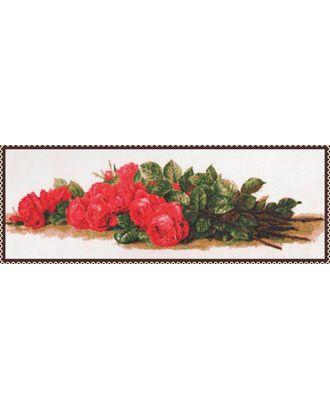 Набор для вышивания ПАЛИТРА Розы на столе 59х20 см арт. МГ-16459-1-МГ0162483