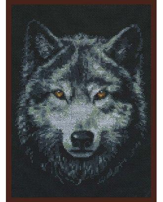 Набор для вышивания ПАЛИТРА Взгляд волка 21х27 см арт. МГ-16461-1-МГ0162485