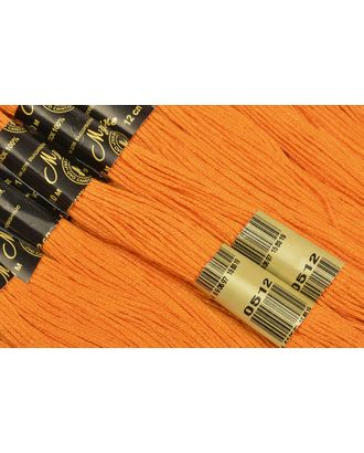 Нитки мулине цв.0512 т.оранжевый 12х10м С-Пб арт. МГ-16570-1-МГ0162786