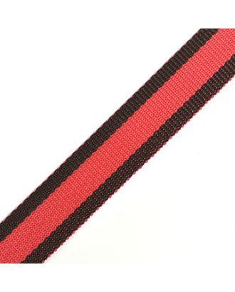 Стропа-30 цв.31 черный-красный арт. МГ-78026-1-МГ0162826