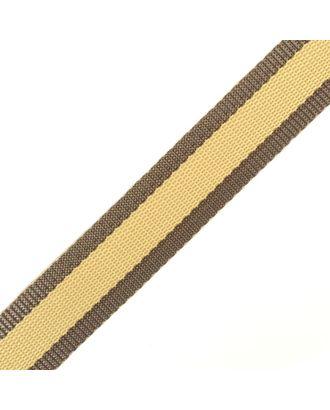 Стропа-30 цв.34 коричневый-бежевый арт. МГ-78027-1-МГ0162876
