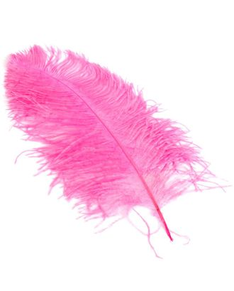 Перо страуса 40-45 см цв.розовый арт. МГ-78045-1-МГ0163435