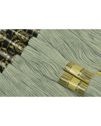 Нитки мулине цв.6702 бл.оливковый 12х10м С-Пб арт. МГ-16779-1-МГ0163769