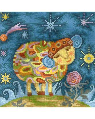 Набор для вышивания СДЕЛАЙ СВОИМИ РУКАМИ Барашек 17х17 см арт. МГ-16837-1-МГ0164149