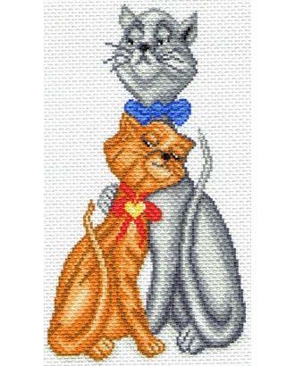 Рисунок на канве МАТРЕНИН ПОСАД - 1621 Кот с кошкой арт. МГ-16872-1-МГ0164288