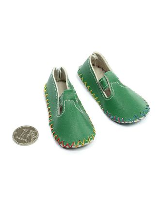 Туфли для куклы 4/05 80х35мм высота 20мм, цв.зеленый 1 пара арт. МГ-549-1-МГ0164296