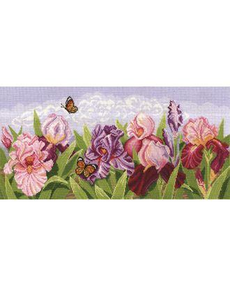 Набор для вышивания СДЕЛАЙ СВОИМИ РУКАМИ Торжество цветов. Ирисы 54х24 см арт. МГ-16942-1-МГ0164744