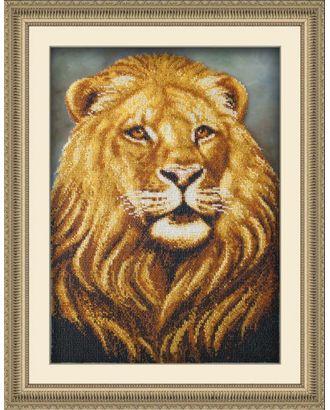 Набор для вышивания бисером ПАУТИНКА Лев 39х28 см арт. МГ-16992-1-МГ0164912
