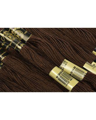Нитки мулине цв.9308 т.коричневый 12х10м С-Пб арт. МГ-17010-1-МГ0164970