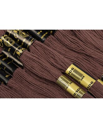 Нитки мулине цв.9306 коричневый 12х10м С-Пб арт. МГ-17043-1-МГ0165112