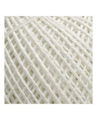 "Нитки для вязания ""Пион"" (70% хлопок, 30% вискоза) 6х50г/200м цв.0101 белый арт. МГ-17108-1-МГ0165202"