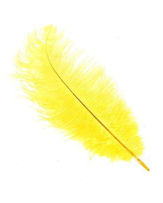 Перо страуса 30-35 см цв.желтый арт. МГ-78075-1-МГ0165409