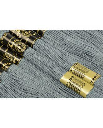 Нитки мулине цв.7203 т.серый 12х10м С-Пб арт. МГ-17202-1-МГ0165690