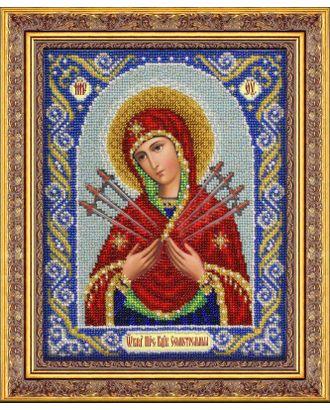 Набор для вышивания бисером ПАУТИНКА Богородица Семистрельная 20х25 см арт. МГ-17222-1-МГ0165768