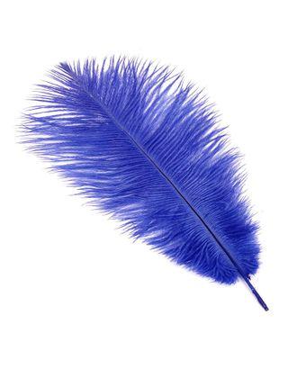 Перо страуса 30-35 см цв.синий арт. МГ-78090-1-МГ0166320